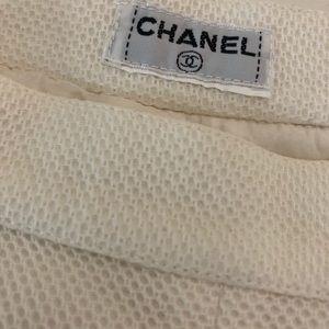 Chanel Paris White Shorts Vintage